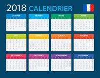 Calendar 2018 - French Version Royalty Free Stock Photo