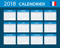 Calendar 2018 - French Version Royalty Free Stock Photography