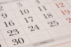 Calendar-Friday Royalty Free Stock Photo