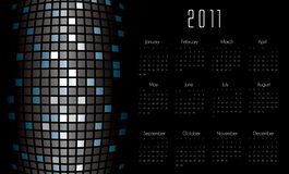 Calendar with futuristic background. In editable vector format Stock Photo