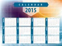 Calendar 2015 futuristic technology Stock Image