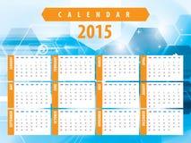 Calendar 2015 futuristic technology Royalty Free Stock Photo