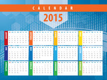 Calendar 2015 futuristic technology Royalty Free Stock Image