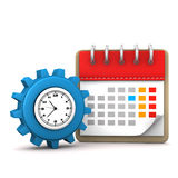 Calendar Gear Watch Royalty Free Stock Photo