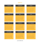 Calendar 2017 in German simple modern. Royalty Free Stock Photography