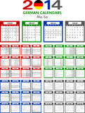 Calendar 2014 German. Stock Photography