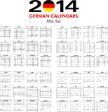 Calendar 2014 German. Royalty Free Stock Photography
