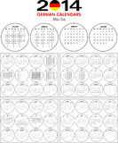 Calendar 2014 German. Royalty Free Stock Photo
