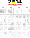Calendar 2014 German. Stock Photos