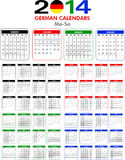 Calendar 2014 German. Royalty Free Stock Images