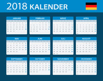 Calendar 2018 - German Version. Illustration Royalty Free Stock Image