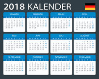 Calendar 2018 - German Version. Illustration Royalty Free Stock Photography