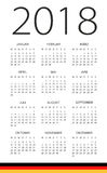 Calendar 2018 - German Version. Calendar 2018 year - German Version Royalty Free Stock Photos