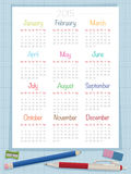 Calendar for 2015 Stock Photo