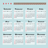 Calendar 2016 Stock Photos
