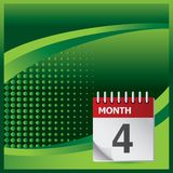 Calendar on green halftone banner Royalty Free Stock Photography