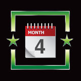 Calendar in green star frame Royalty Free Stock Image