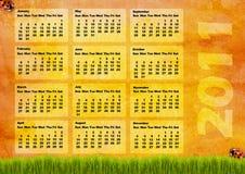 Calendar grid 2011 Royalty Free Stock Photography