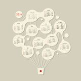 Calendar grid 2015,  Air balloon for your design Stock Image