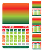 Calendar grid. Autumn Royalty Free Stock Images