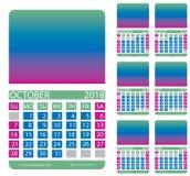 Calendar grid. Autumn. Summer Royalty Free Stock Photos