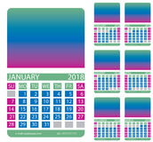 Calendar grid. December. January. February. March. April. May. This page wall calendar. In place of the gradient field can be foredeck your image. Eps 10 Stock Photography