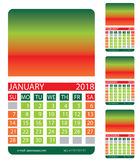 Calendar grid.December.  January. February. Calendar grid. December. January. February. This page wall calendar. In place of the gradient field can be foredeck Royalty Free Stock Image
