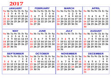 Calendar grid. Royalty Free Stock Photos