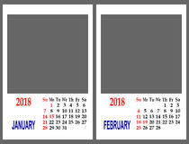Calendar grid. Royalty Free Stock Photo