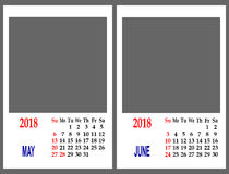 Calendar grid. Royalty Free Stock Photography