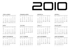Calendar grid Monday-Sunday optimized Royalty Free Stock Photo