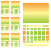 Calendar grid. second semester Stock Photo