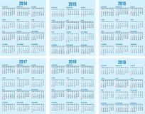 Calendar grid. Set of vector calendar grids vector illustration