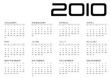 Calendar grid Sunday-Saturday royalty free stock photography