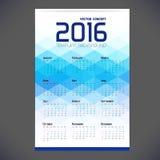 Calendar grid for 2016 Stock Images