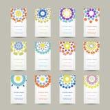 Calendar grid 2015 for your design, floral Stock Photo
