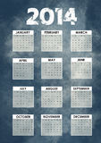 Calendar 2014 with grunge background. Calendar 2014 with abstract grunge background Royalty Free Stock Photography