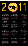 Calendar with halloween background. Calendar with halloween black background royalty free illustration