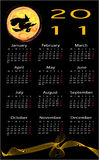 Calendar with halloween background Royalty Free Stock Photo