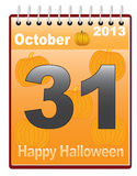 Calendar with Halloween date Stock Photo
