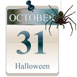 Calendar of Halloween Royalty Free Stock Photography