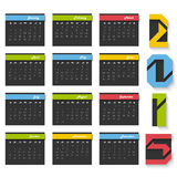 Calendar for Happy New Year 2015 celebrations. Stock Photos
