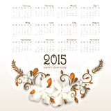 Calendar of Happy New Year 2015. Royalty Free Stock Photography