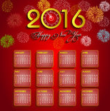 Calendar happy new year  illustration Stock Photo
