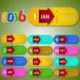 Calendar happy new year  illustration. Calendar 2016 happy new year  illustration Royalty Free Stock Photo
