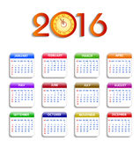 Calendar happy new year  illustration Royalty Free Stock Photography