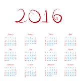 Calendar happy new year  illustration. Calendar 2016 happy new year  illustration Stock Image