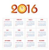 Calendar happy new year  illustration. Calendar 2016 happy new year  illustration Stock Photo