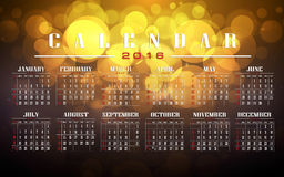 Calendar 2016 and happy new year. Calendar 2016 vintage and bokeh , motion Blur background Royalty Free Stock Images