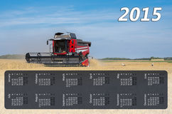 Calendar for 2015 Stock Photography